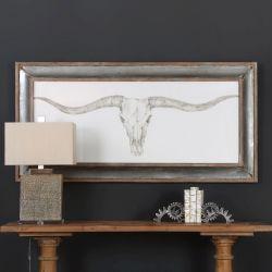 Western Skull Mount Print