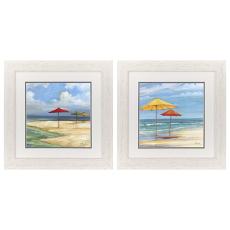Umbrella Beachscape Framed Art Set Of 2