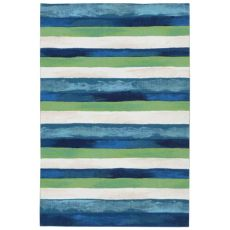 "Liora Manne Visions Ii Painted Stripes Indoor/Outdoor Rug Cool 24""X36"""