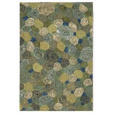 "Liora Manne Visions Iii Giant Swirls Indoor/Outdoor Rug - Green, 24"" By 36"""