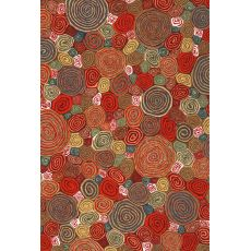 "Liora Manne Visions Iii Giant Swirls Indoor/Outdoor Rug - Red, 24"" By 36"""