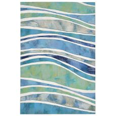 "Liora Manne Visions Iii Wave Indoor/Outdoor Rug - Blue, 24"" By 36"""