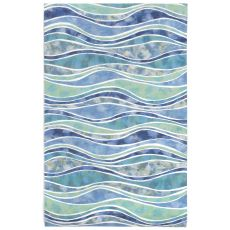 Liora Manne Visions III Wave Indoor/Outdoor Rug - Blue, 5' By 8'