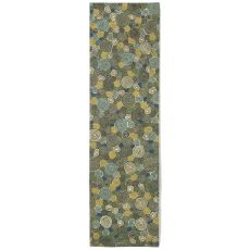 "Liora Manne Visions Iii Giant Swirls Indoor/Outdoor Rug - Green, 27"" By 8'"
