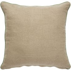 """Floral & Leaves Pattern Green/Neutral Cotton And Polyester Down Fill Pillow ( 22""""X22"""")"""