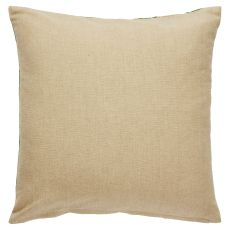 """Trellis, Chain & Tiles Pattern Neutral/Green Cotton And Polyester Down Fill Pillow ( 18""""X18"""")"""
