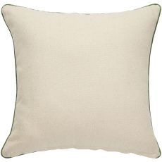 """Trellis, Chain & Tiles Pattern Neutral/Green Cotton And Polyester Down Fill Pillow ( 22""""X22"""")"""