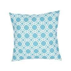 """Tribal Pattern Blue/Ivory Polyester Pillow (20""""X20"""")"""