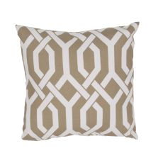 """Tribal Pattern Taupe/Ivory Polyester Pillow (20""""X20"""")"""