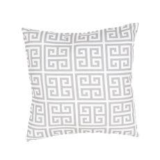 "Tribal Pattern Yellow/Ivory Polyester Pillow (18""X18"")"