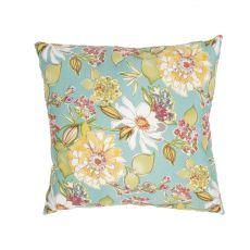 "Tribal Pattern Blue/Multi Polyester Pillow (20""X20"")"