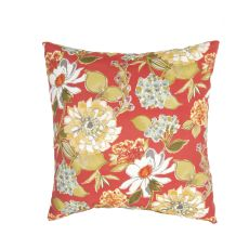 """Tribal Pattern Red/Multi Polyester Pillow (20""""X20"""")"""