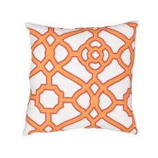 "Tribal Pattern Orange Polyester Pillow (18""X18"")"