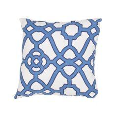 "Tribal Pattern Blue Polyester Pillow (18""X18"")"