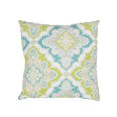 "Tribal Pattern Blue/Green Polyester Pillow (18""X18"")"