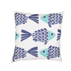 "Tribal Pattern Blue Polyester Pillow (20""x20"")"