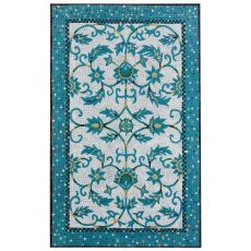 Liora Manne Visions III Waves Indoor/Outdoor Rug Blue