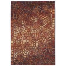 "Arch Tile Red Rug 24"" X 36"""