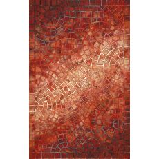"Arch Tile Red Rug 42"" X 66"""