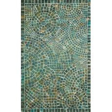 Arch Tile Lapis Rug 5' x 8'