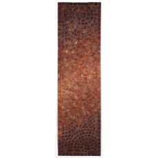 "Arch Tile Red Rug 27"" X 8'"