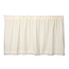 Vintage Pom Pom 55X30 Window Tier, Cream
