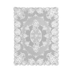 Victorian Rose 60X84 Tablecloth, White