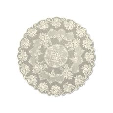 "Victorian Rose 72"" Tablcloth, Ecru"
