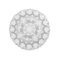 "Victorian Rose 72"" Tablcloth, White"