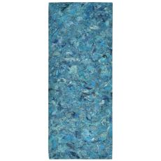 """Liora Manne Visions I Quarry Indoor/Outdoor Mat - Blue, 24"""" By 58"""""""