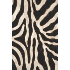 "Liora Manne Visions Ii Zebra Indoor/Outdoor Mat - Black, 20"" By 29.5"""