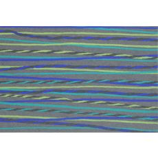"Liora Manne Visions Ii Twist Stripe Indoor/Outdoor Mat - Grey, 20"" By 29.5"""
