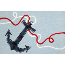"""Liora Manne Visions II Anchor Indoor/Outdoor Mat - Blue, 20"""" by 29.5"""""""