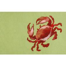 "Liora Manne Visions II Crab Indoor/Outdoor Mat - Green, 20"" by 29.5"""