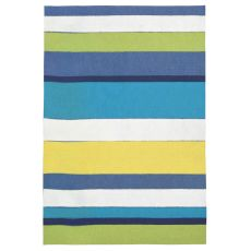 "Liora Manne Visions Ii Garden Stripe Indoor/Outdoor Mat - Blue, 20"" By 29.5"""