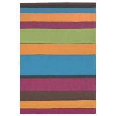 "Liora Manne Visions Ii Garden Stripe Indoor/Outdoor Mat - Multi, 20"" By 29.5"""
