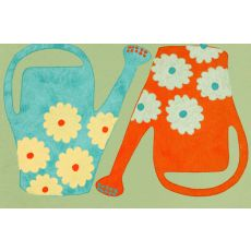 """Liora Manne Visions Iii Watering Cans Indoor/Outdoor Mat - Green, 20"""" By 29.5"""""""
