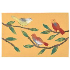 "Liora Manne Visions Iii Chirp Birds Indoor/Outdoor Mat - Yellow, 20"" By 29.5"""