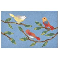"Liora Manne Visions Iii Chirp Birds Indoor/Outdoor Mat - Blue, 20"" By 29.5"""