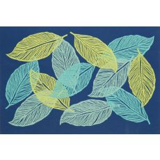 """Liora Manne Visions Iii Mystic Leaf Indoor/Outdoor Mat - Navy, 20"""" By 29.5"""""""