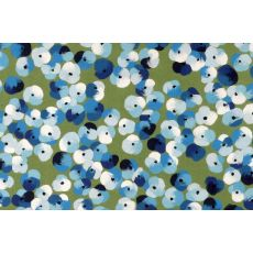 """Liora Manne Visions Iii Pansy Indoor/Outdoor Mat - Blue, 20"""" By 29.5"""""""