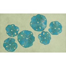 "Liora Manne Visions III Sand Dollar Indoor/Outdoor Mat - Blue, 20"" by 29.5"""
