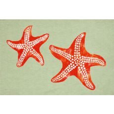 "Liora Manne Visions Iii Star Fish Indoor/Outdoor Mat - Green, 20"" By 29.5"""