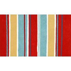 """Liora Manne Visions III Sailor Stripe Indoor/Outdoor Mat - Red, 20"""" by 29.5"""""""