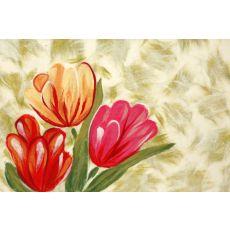 "Liora Manne Visions Iv Tulips Indoor/Outdoor Mat - Orange, 20"" By 29.5"""