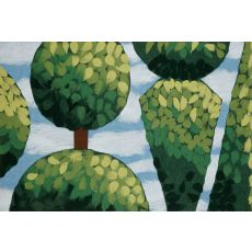 """Liora Manne Visions Iv Topiary Indoor/Outdoor Mat - Green, 20"""" By 29.5"""""""