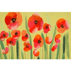 """Liora Manne Visions Iv Poppies Indoor/Outdoor Mat - Red, 20"""" By 29.5"""""""