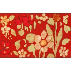 """Liora Manne Visions Iv Watercolor Flower Indoor/Outdoor Mat - Red, 20"""" By 29.5"""""""