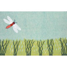 """Liora Manne Visions Iv Dragonfly Indoor/Outdoor Mat - Blue, 20"""" By 29.5"""""""