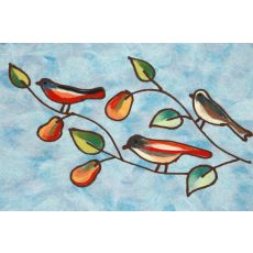 """Liora Manne Visions Iv Song Birds Indoor/Outdoor Mat - Blue, 20"""" By 29.5"""""""